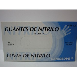 GUANTES NITRILO MISTER POMEZ TALLA GRANDE 100 UNIDADES