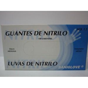 GUANTES NITRILO MISTER POMEZ TALLA MEDIANA 100 UNIDADES
